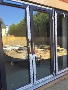 Evolving Glass solutions external door installation in sailsbury